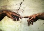 Michelangelo-God and Adam